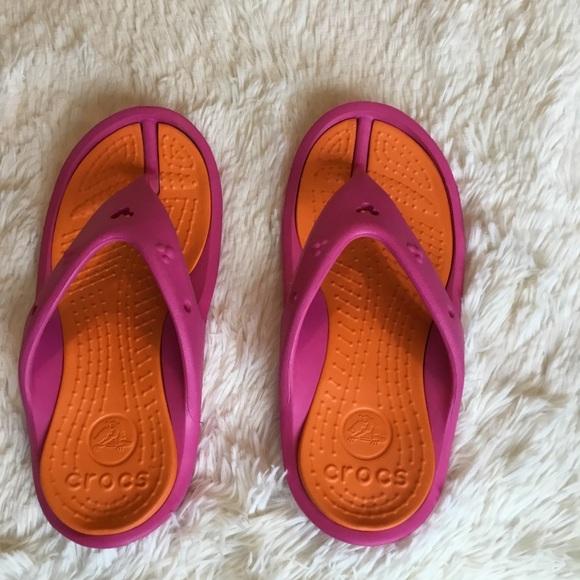 edc2a749d66 CROCS Shoes - Crocs Pink   Orange Mickey Mouse Flip Flops